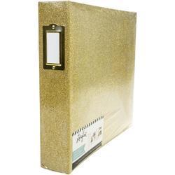 """Storyline Gold Glitter 3 D-Ring Album kit 12""""X12"""" - 3"""