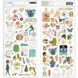 "The Avenue Cardstock Stickers 6""X12"" 80/Pkg - 3"