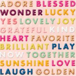 Truly Grateful Puffy Word Stickers 142/Pkg - 3