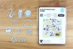 Albums Made Easy Icons Dies 10pkg - 3