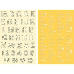 Alpha Ruler Stamp & Stencil Set 4'x6' - 3