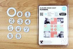Albums Made Easy Numbers Dies 11pkg - 3