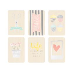 Stitched Die-Cut Printed Chipboard 6 pkg - 3