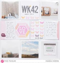 "Bella Rouge Journaling Cards 4""x4"" 18 pkg - 3"