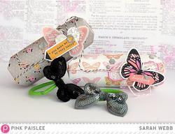 Bella Rouge Sequin Butterflies 4 pkg - 3