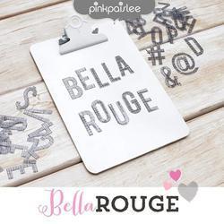 Bella Rouge Printed Transparent Alphabet 107 pkg - 3