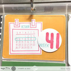 "Calendar Clear Stamps 4""x6"" - 3"