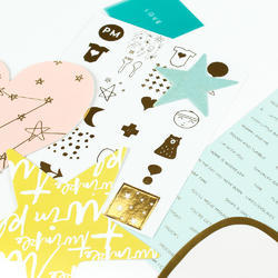 Clara Gold Icons Foil Stickers - 3