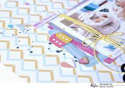 Felicity Color Block Wood Veneer Stickers - 3