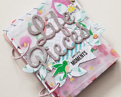 "Felicity Glitter Words 5.5""x11"" 2 sheets - 3"