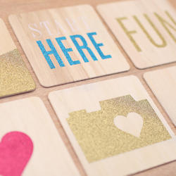 Glittered Wood Veneer Cards 4x4 Project Life® - 3
