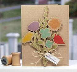 """Grand Peaceful Wildflowers Stamps 4""""x8"""" - 3"""