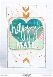Heidi Swapp 4x4 Mini Stencil & Cardstock Kit - Words - 3