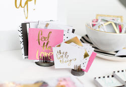 Hello Beautiful Foil Pocket Cards Embellishments - 3