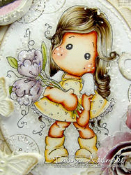 Magnolia - Tilda w/ Fantasy Flower Cling Stamp - 3