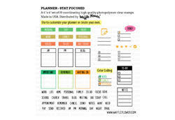 "Planner-Stay Focused Clear Stamps 4""x6"" - 3"