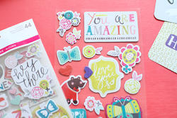 Playful Project Life Chipboard Stickers - 3