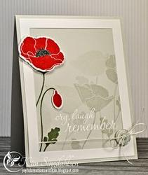 """Pretty Poppies Stamps 4""""x8"""" - 3"""