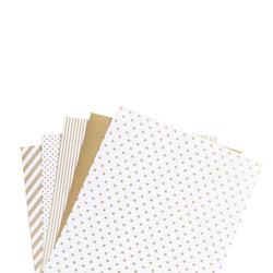 "Shape 'n Tape Washi Sheets Gold 6""x12"" 5/Pkg - 3"