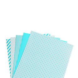 """Shape 'n Tape Washi Sheets Teal 6""""X12"""" 5/Pkg - 3"""