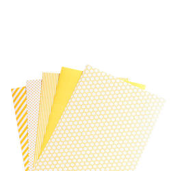 "Shape 'n Tape Washi Sheets Yellow 6""X12"" 5/Pkg - 3"