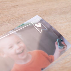 Silver Foil Project Life Photo Overlays 12 pkg - 3