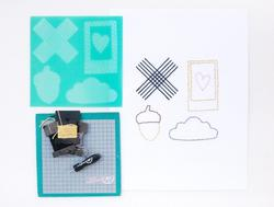 Stitched Oxford 5 Piece Embroidery Stencil Kit - 3