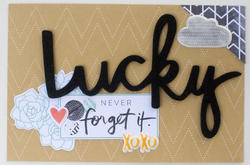 Stitched Today Accent Words/Black Foam Thickers Stickers 2 sheets - 3