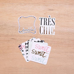 "Sweet Project Life Die-Cut Card Pack 4""x4"" 12 pkg - 3"
