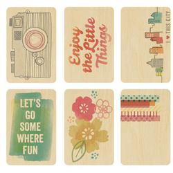 Yes Please - Wood Veneer Tags - Smile - Amy Tan - 3