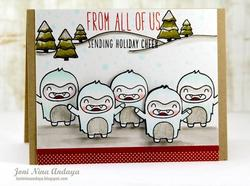 Yeti, Set, Go Clear Stamps - 3