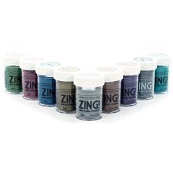 Zing! Mettalic Embossing Powder – zeleno/modrá - 3