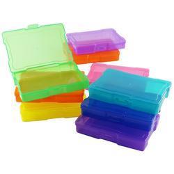 """We R Craft & Photo Translucent Plastic Storage 15""""X12""""X5"""", w/16 Mini Cases - 4"""