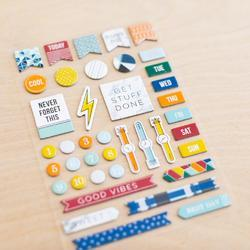 Sharp Project Life Chipboard Stickers - 4