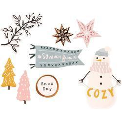 Snowflake Cardstock Stickers 74/Pkg - 4