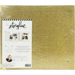 """Storyline Gold Glitter 3 D-Ring Album kit 12""""X12"""" - 4"""