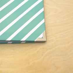 "Awesome Diagonal Stripes Designer D-Ring Album 12""X12"" - 4"