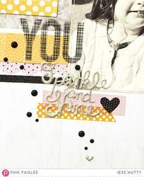 Bella Rouge Puffy Silver Glitter Stickers - 4