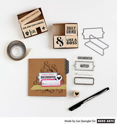 Scored Tabs Clear Stamps & Dies - 4