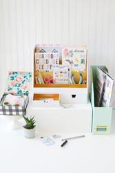 Desktop White Organizer - 4
