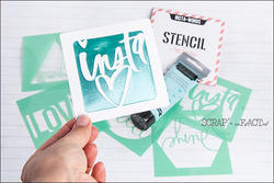 Heidi Swapp 4x4 Mini Stencil & Cardstock Kit - Words - 4