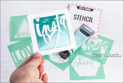 Heidi Swapp 4x4 Mini Stencil & Cardstock Kit - Words - 4