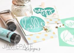 Heidi Swapp 4x4 Mini Stencil & Cardstock Kit - Patterns - 4