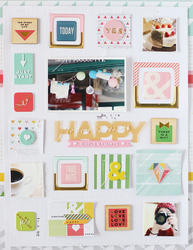 Life Noted Chipboard Rubber Charm Stickers - 4