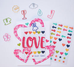 Day 2 Day Planner Epoxy Stickers - Arrows, Hearts & Stars - 5