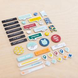 Sharp Project Life Chipboard Stickers - 5
