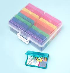 """We R Craft & Photo Translucent Plastic Storage 15""""X12""""X5"""", w/16 Mini Cases - 5"""