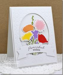 "Grand Peaceful Wildflowers Stamps 4""x8"" - 5"