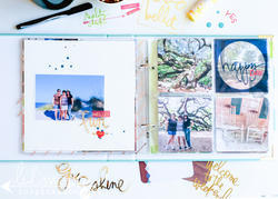 "Stripe Ring Album 8""x8"" - 5"