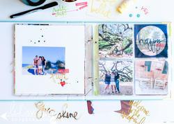 """Stripe Ring Album 8""""x8"""" - 5"""